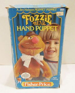 Newly listed FISHER PRICE 1978 MUPPETS FOZZIE BEAR HAND PUPPET MINT W