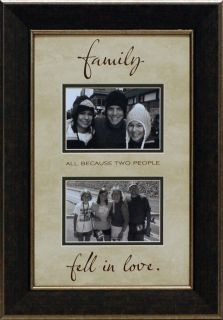 FamilyAll Because Two People Fell in Love Framed Photo Mat 13 7/8