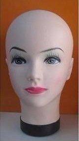 Female Celebrity Cosmetology Mannequin Head Bold with Make Up