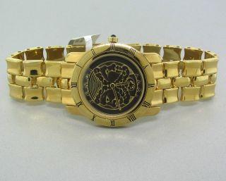 NEW FENDI GREEK GOD GOLD TONE LADIES WATCH F85190 $1250