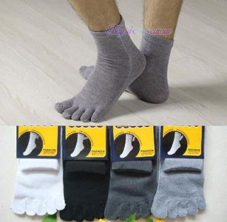 Mens Cotton Five Fingers Toe Socks Stockings 3 pairs