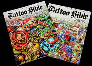 Reference TATTOO BIBLE BOOKS 1 & 2 ! flash, skulls, drawings 260