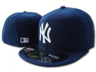 New Era 5950 New York Yankees   NY   WHITE on NAVY   MLB Baseball Cap