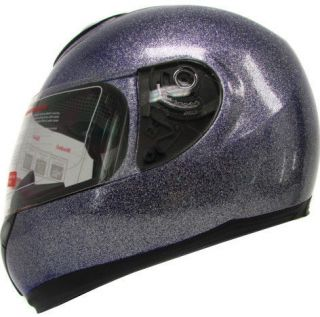Metal Flake Glitter Metalflake Purple Blue Motorcycle Full Face Helmet