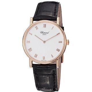 Chopard Mens 163154 5001 Classic Slim Black Leather Strap Watch