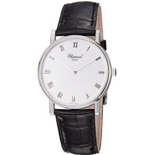 Chopard Mens 163154 1001 Classic Slim Black Leather Strap Watch