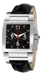 De Grisogono Mens CHRONO N01 Black Leather Strap Watch Watches