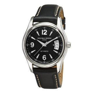 Frederique Constant Mens FC 303B4B26 Junior Black Dial Watch Watches