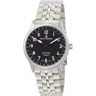 Revue Thommen Mens 16001.9197 Airspeed Automatic Black Dial Watch