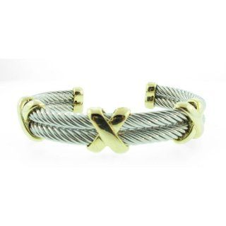 Charriol Sterling silver New Mens Cable Band Ring Jewelry