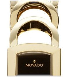 Movado Womens 605967 Rondiro Gold Plated Stainless Steel Watch