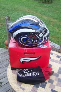 Fulmer Full Face Motorcycle Helment NIB X Large Blue