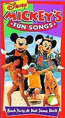 Mickeys Fun Songs Beach Party at Walt Disney World VHS, 1995