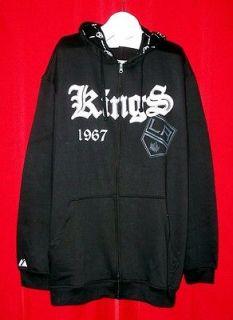 Majestic Los Angeles Kings Black Goth Diamond NHL Hoodie Hooded