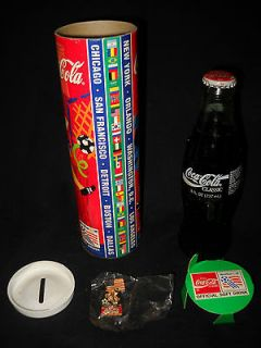 1994 World Cup Soccer Coca Cola Bottle (unopened) Still In Tube with