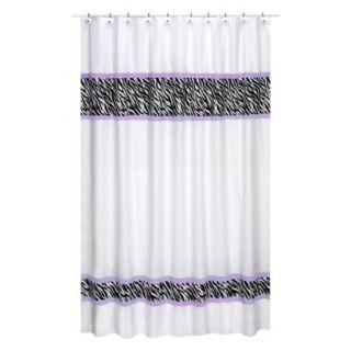 Sweet Jojo Designs Zebra Shower Curtain   Purple product details page