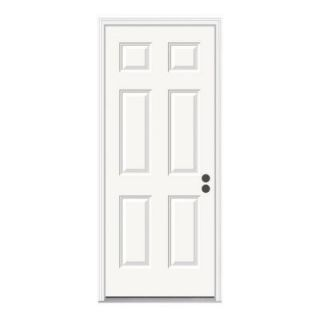 JELD WEN Premium 6 Panel Primed White Steel Entry Door 723291 at The