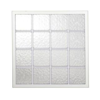 42 in. x 42 in. Wave Pattern 8 in. Acrylic Block White Vinyl Fin Fixed