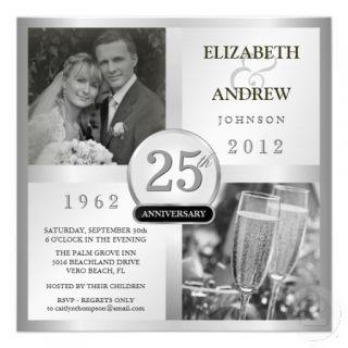 Aniversario de bodas de plata 25   invitaciones de comunicados