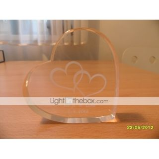 Personalized Heart Crystal Wedding Cake Topper (More Designs)   USD $