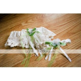 Piece Satin With Ribbons Wedding Garters   USD $ 5.52