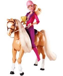 Buy Barbie Train to Trot Tawny Doll/Horse Playset at Argos.co.uk