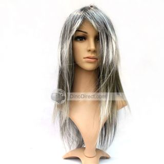Wholesale Color Shine Fashion Fibre Anime Lady Party Long Hair Wigs
