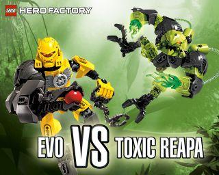 LEGO Hero Factory Entretenimiento   Fondos de pantalla   Evo vs