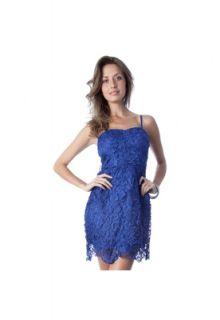 Vestido Lucy in The Sky Guipir Azul   Compre Agora  Dafiti