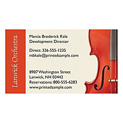 Raised Print Business Cards 3 12 x 2 Bright White Linen by Office