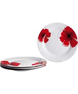 Buy Living 4 Piece Porcelain Poppies Dinner Plates Set at Argos.co.uk
