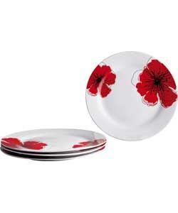 Buy Living 4 Piece Porcelain Poppies Dinner Plates Set at Argos.co.uk