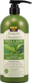Avalon Organics Hand and Body Lotion Aloe Unscented    32 fl oz