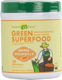 Amazing Grass Green SuperFood® Drink Powder Orange Dreamsicle    8.5