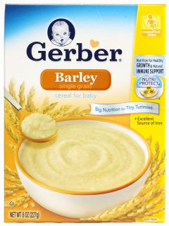Gerber Cereal for Baby Single Grain Barley    8 oz   Vitacost