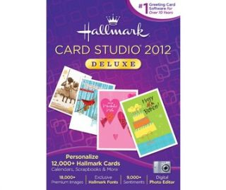Buy Hallmark Card Studio Deluxe 2012   More than 12,000 greeting cards