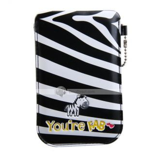Wholesale Garchin Cute Zebra Stripes Mobile Phone Pouch Bag for iPhone
