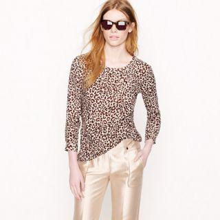 Tessa top in safari cat   shirts   Womens size 16   J.Crew