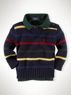 Striped Crewneck Sweater   Infant Boys Sweaters   RalphLauren