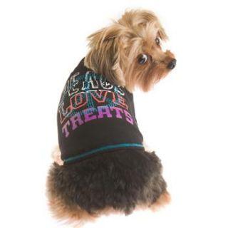 Home Dog Apparel RuffLuv Peace Love & Treats Dog T Shirt