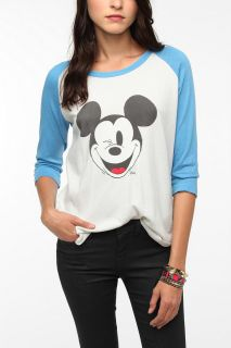 Junk Food Mickey Mouse Show Raglan Tee   Urban Outfitters