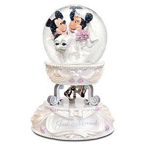 Minnie and Mickey Mouse Wedding Snowglobe customer