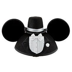 Personalizable Tuxedo Groom Mickey Mouse Ear Hat for Men