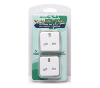 Buy AVANTIX Worldwide Travel Plug Adaptor   Twin Pack  Free Delivery