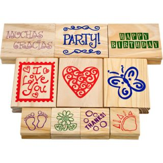Trademark Games Wood Mounted Rubber Stamp Set   10 pc.  Meijer