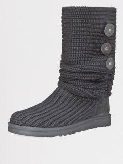 Ugg Australia Classic Cardy Boots   Black  Very.co.uk