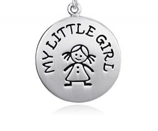 My Little Girl Charm in Sterling Silver  Blue Nile
