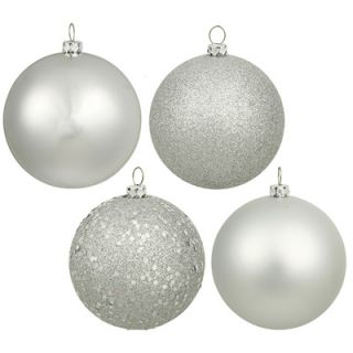 Shatterproof Christmas Ornaments   Set of 20   2.75 Inch Silver