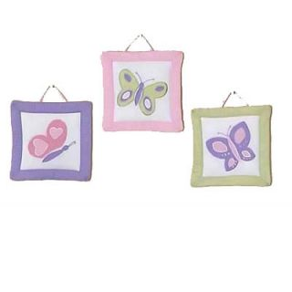Sweet Jojo Designs 3 Piece Nursery Wall Hanging Set   Pink/Purple
