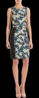 CO OP Barneys New York Floral Print Block Shift Dress
